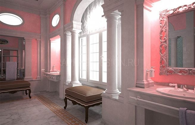 Master Bathroom in Classical style