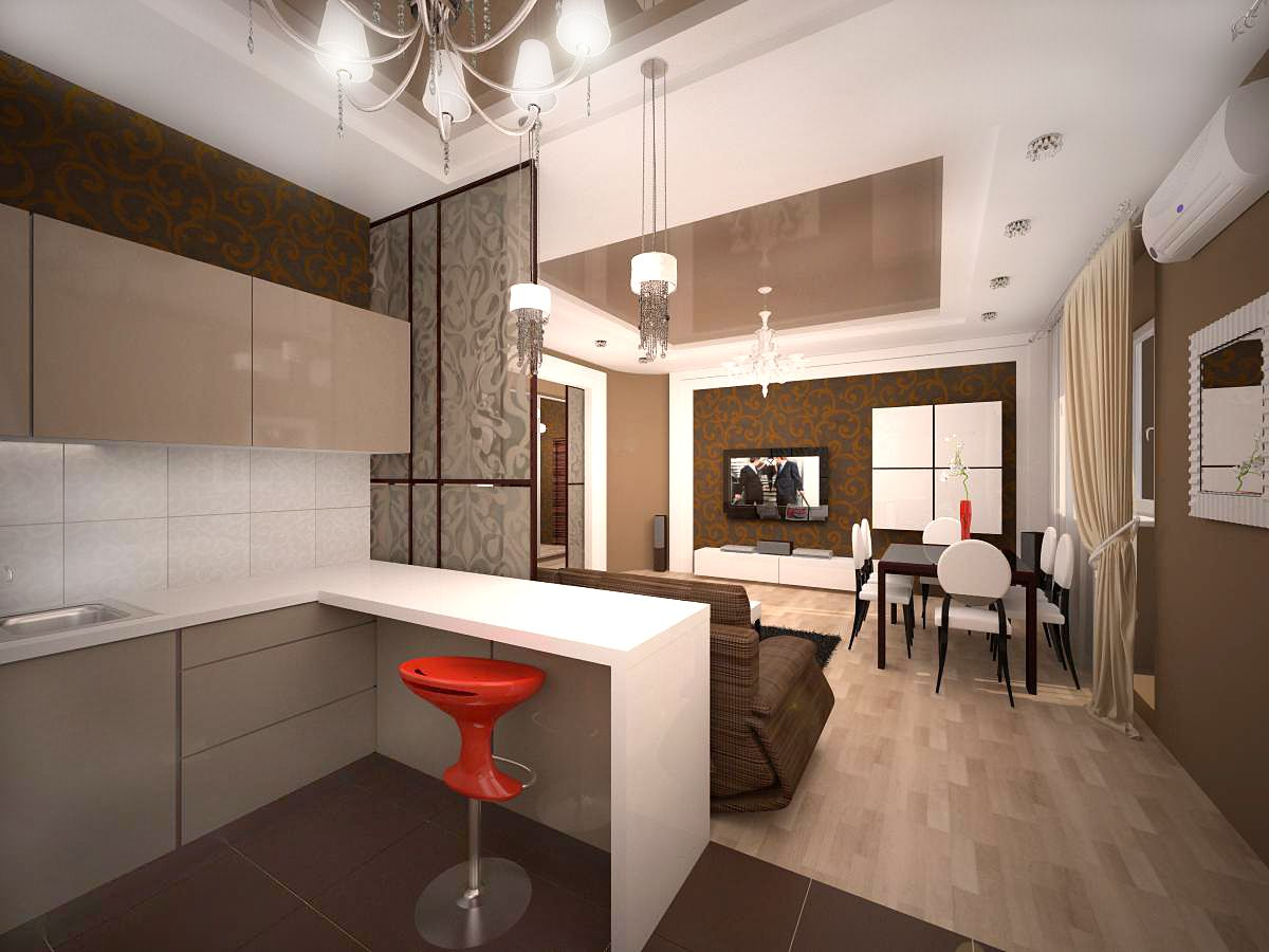 Фото дизайна кухни студии